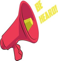 Be heard vector
