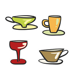 Beverage glassware vector