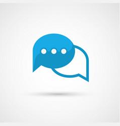 Blue speech bubble icon vector