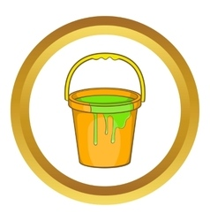 Bucket of paint icon vector