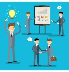 Business set idea concept vector
