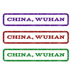 China wuhan watermark stamp vector