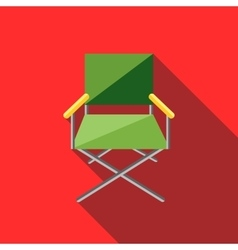 Cinema director chair icon flat style vector