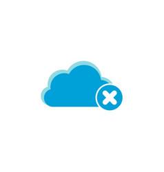 Cloud computing icon delete icon vector
