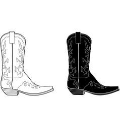 cowboy boot vector image vector image