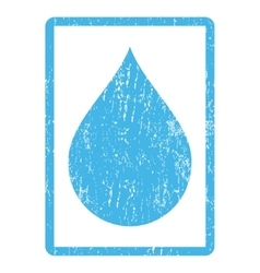 Drop Icon Rubber Stamp vector image
