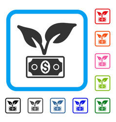 Eco startup gain framed icon vector