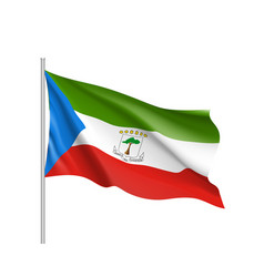 equatorial guinea realistic flag vector image vector image