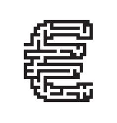 Euro business flat black maze vector image
