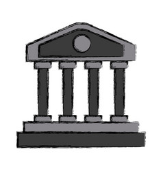Greek columns building vector