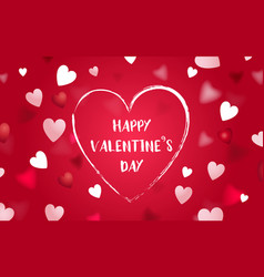 happy valentines day abstract heart background vector image