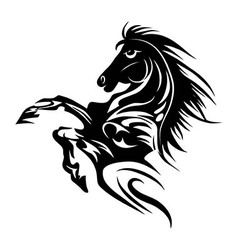 Horse tattoo symbol new year for design isolated v vector