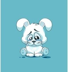 Isolated emoji character cartoon sad and vector