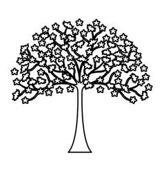 japanese tree plant icon vector image