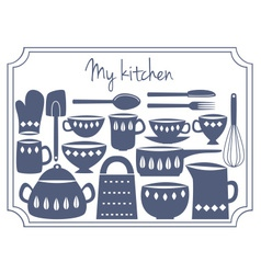 kitchen label vector image vector image