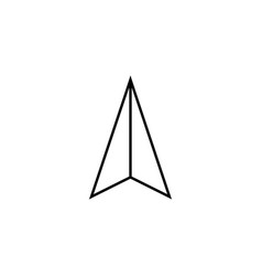 Location arrow line icon navigation and gps sign vector