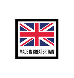 Made in england isolated label for products vector