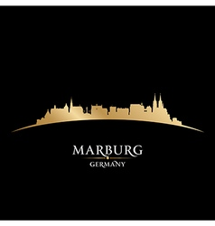 Marburg Germany city skyline silhouette vector image