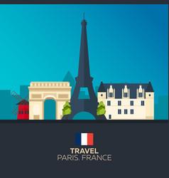 paris travelling paris skyline vector image