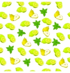 pear lime and slice vector image