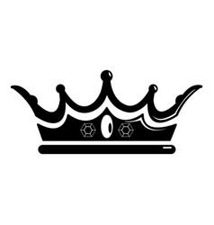princess crown icon simple black style vector image vector image