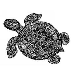 Sea turtle in paisley mehndi style vector image vector image