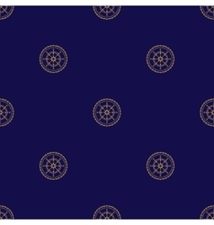 Seamless Pattern with Ships Wheel vector image