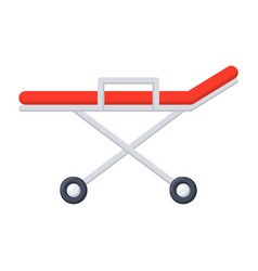 Stretcher medical icon vector