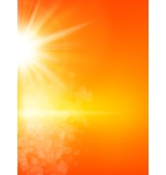 Summer background with a sun EPS 10 vector image vector image