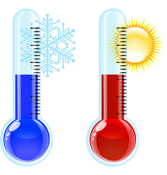 Thermometer Hot and Cold icon vector image vector image