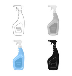 cleaner spray icon in cartoon style isolated on vector image