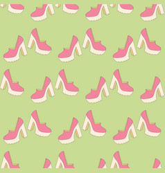high heels seamless pattern vector image