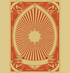 Vintage grunge poster background vector