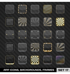 Set of app icon frames templates backgrounds vector