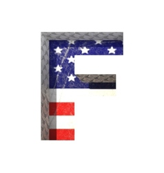 American cutted figure f paste to any background vector