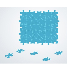 Blue puzzle pieces vector