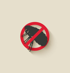 Flea warning sign vector
