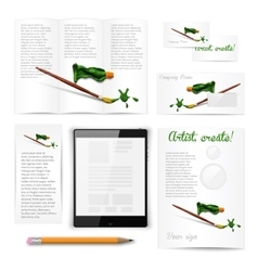 Classic white stationery template documentation vector