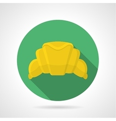 Flat color icon for croissant vector