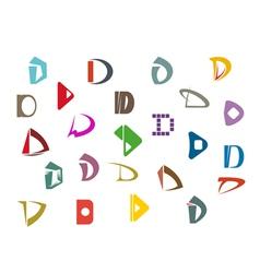 alphabet symbols and elements vector image