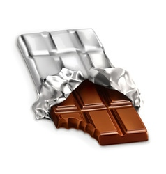 Chocolate bar a tasty piece of chocolate i vector