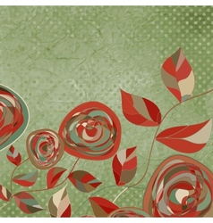 Vintage rose card vector
