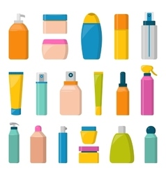 Blank package container dummy collection bottle vector