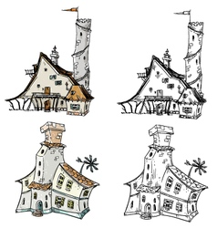 Fantasy houses vector