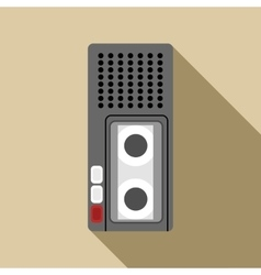Dictaphone icon flat style vector