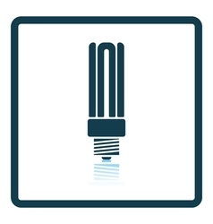 Energy saving light bulb icon vector