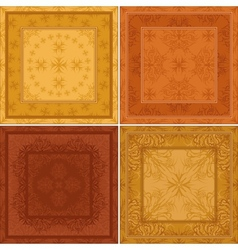 Abstract pattern background tile set vector