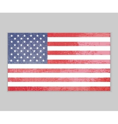 america flag grunge background vector image