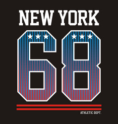 Athletic new york vector