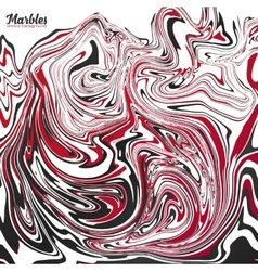 Black red and white marble abstract vector